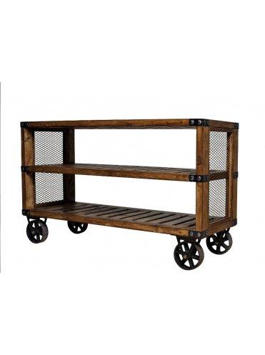 Лофт консоль на колесиках