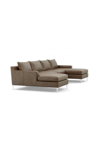 Слим П-образный Кожаный диван