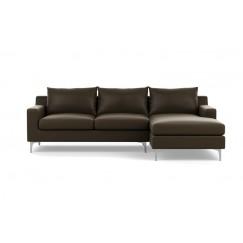 Слим Угловой Кожаный диван