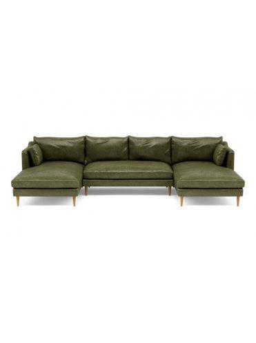 Катлин П-образный Кожаный диван
