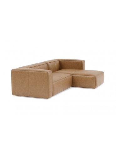 Грэй Угловой Кожаный диван