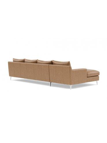 Слим Угловой Кожаный диван на 4 секции