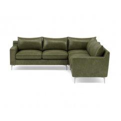 Слим Большой Кожаный диван