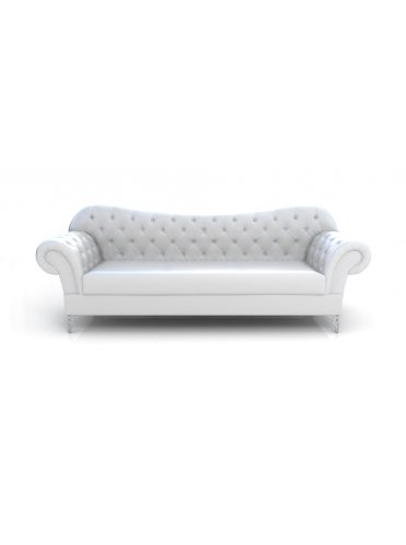 Лайнол Кожаный диван в стиле Неоклассика