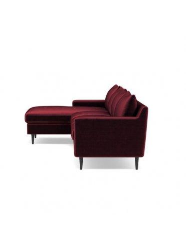 Слим Угловой Тканевый диван на 4 секции