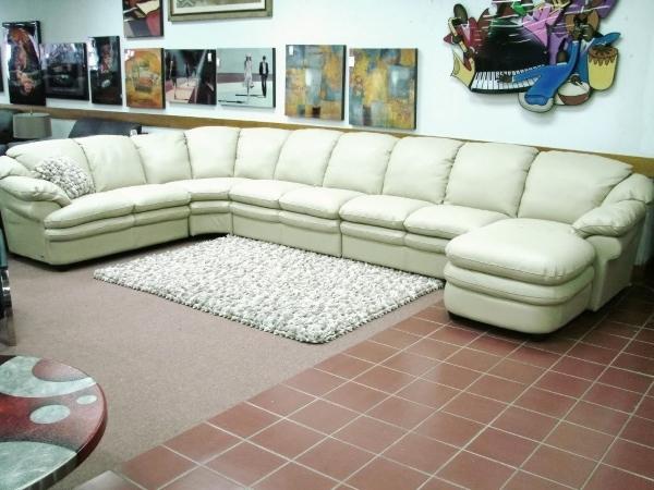 Раскладной диван из натуральной кожи угловой
