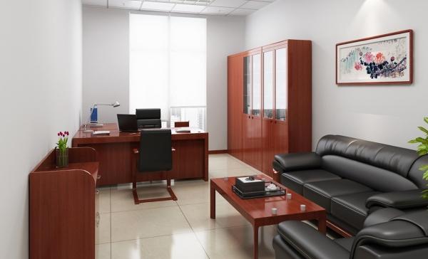 Кожаный раскладной диван для кабинета